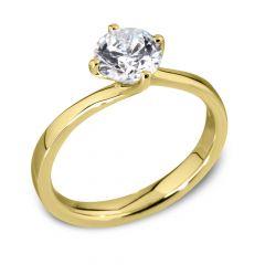 Waltz Diamond Engagement Ring in Yellow Gold