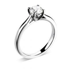 Love Diamond Engagement Ring in White Gold