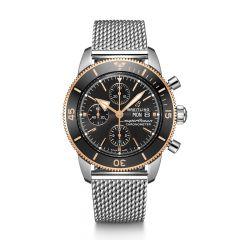 Breitling Superocean Heritage II Chronograph Steel Black & Rose 44mm Automatic Men's Watch