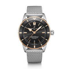 Breitling Superocean Heritage II B20 Steel Mesh Black & Rose 44mm Automatic Men's Watch